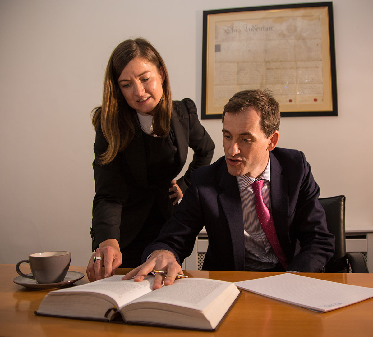 Solicitors AnnMarie Lynch and Tadgh Kelly